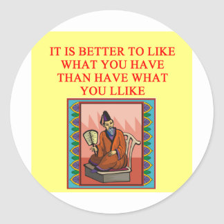 wise chinese proverb classic round sticker