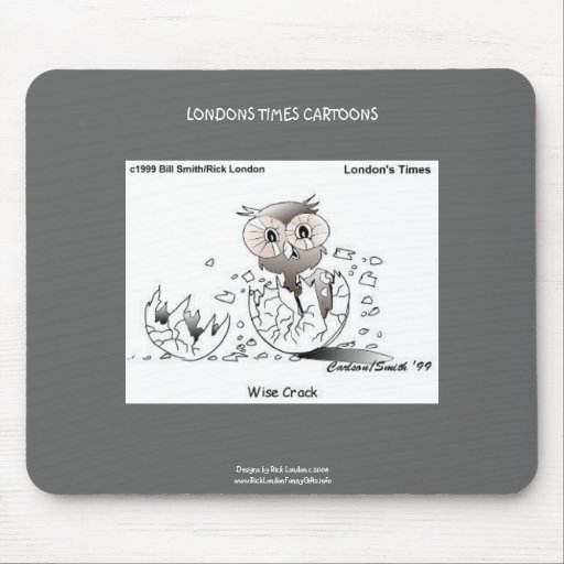 Wise Crack Owl Cartoon Funny Mouse Pad