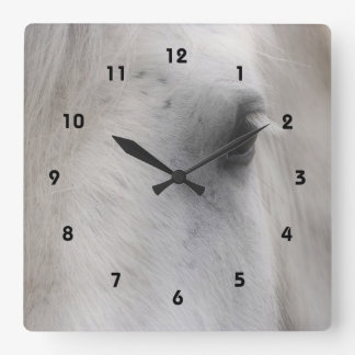 Wise Eye Of A Horse Animal Square Wall Clock