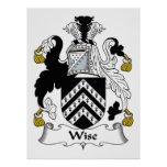 Wise Family Crest Poster