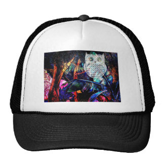 Wise Forest Owl Fantasy Trucker Hat