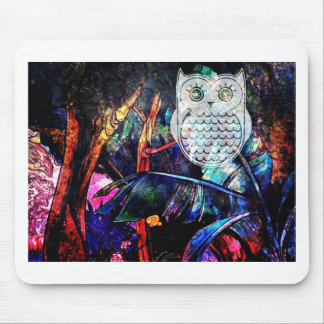 Wise Forest Owl Fantasy Mouse Pad