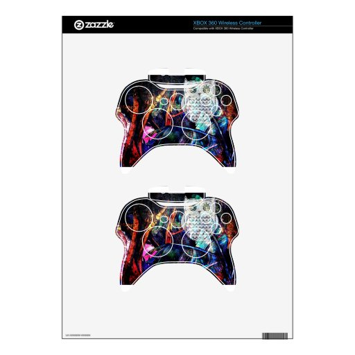 Wise Forest Owl Fantasy Xbox 360 Controller Skin