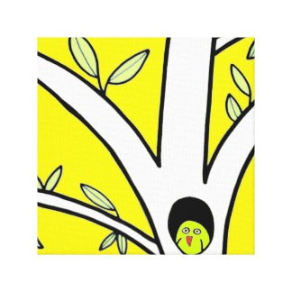 wise guy. canvas bright yellow canvas print