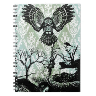 Wise Guy Creepy Owl Products Notebook