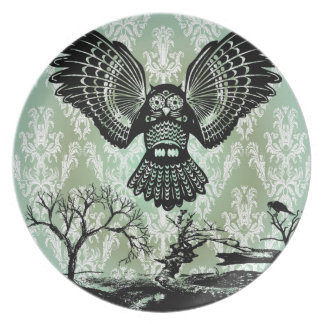 Wise Guy. Creepy Owl Products. Party Plates