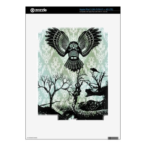 Wise Guy. Creepy Owl Products. Decal For iPad 3