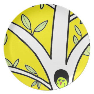 wise guy plate bright yellow
