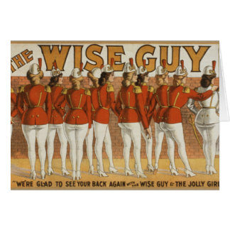 Wise Guy Vintage 1906 Theatrical Poster Card