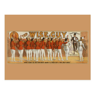 Wise Guy Vintage 1906 Theatrical Poster Postcard