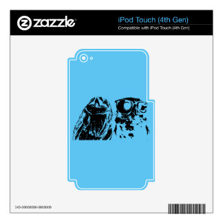 Wise Guys Black iPod Touch 4G Skins