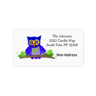 Wise Hoot Owl New Address Label
