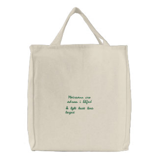 Wise Irish Saying Embroidered Tote Bag