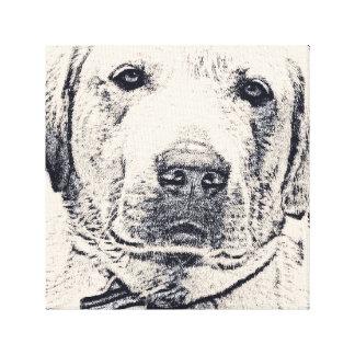 Wise Labrador Print Canvas Print