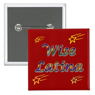 Wise Latina #6 button
