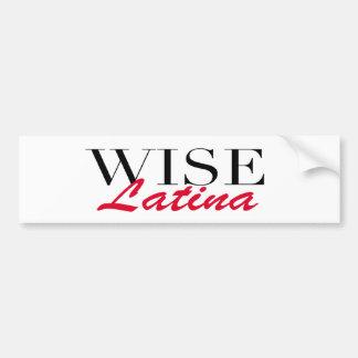 Wise Latina Bumper Sticker