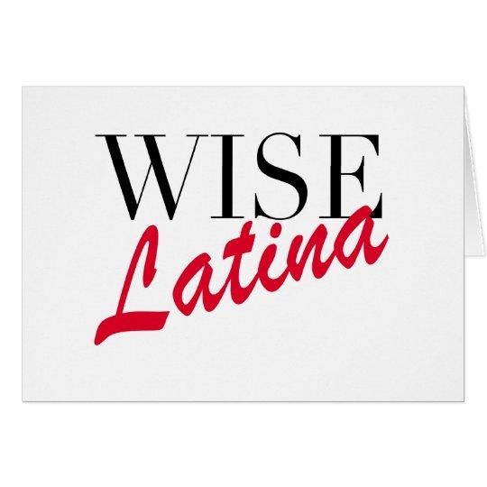 Wise Latina Card