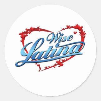 Wise Latina Classic Round Sticker