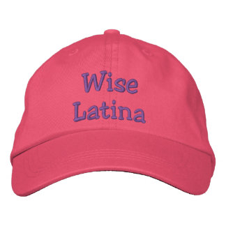 Wise Latina hat Embroidered Hat
