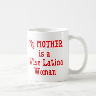 Wise Latina Mom (Red) Classic White Coffee Mug