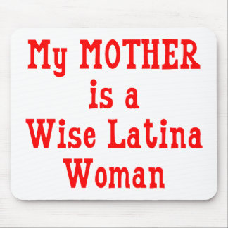 Wise Latina Mom (Red) Mouse Pad