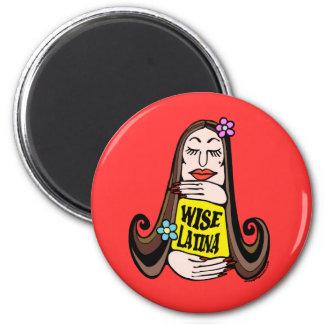 Wise Latina Woman Fridge Magnets