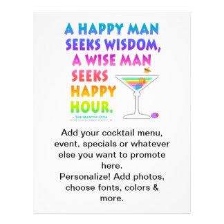 Wise Man Seeks Happy Hour Beer Flyer