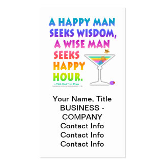 Wise Man Seeks Happy Hour Business Cards Gift Tag