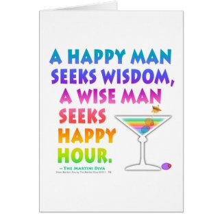 Wise Man Seeks Happy Hour Greeting NoteCards Greeting Card