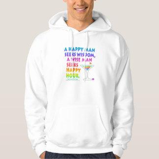 Wise Man Seeks Happy Hour Hoodies Sweatshirts