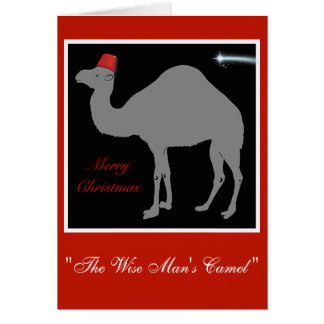 Wise Man's Camel Christmas Card