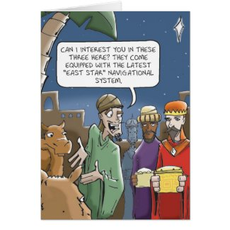 Wise Men Always Get Directions Greeting Cards
