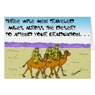 Wise Men At Graduation Card