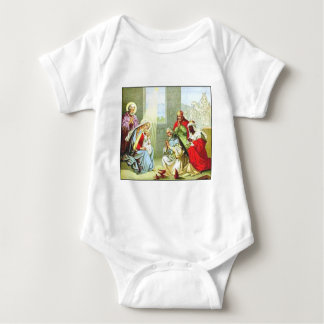 Wise Men At The Nativity Baby Bodysuit