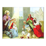Wise Men At The Nativity Postcard