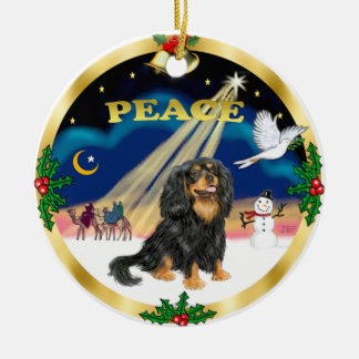 Wise Men - Black and tan Cavalier King Charles Ornaments