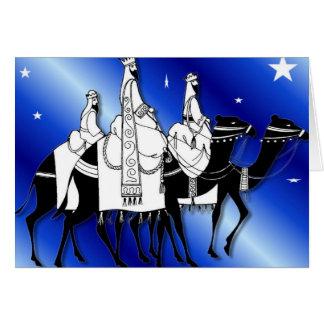 Wise men follow the star blue card