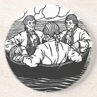 Wise Men of Gotham Nursery Rhyme Drink Coaster