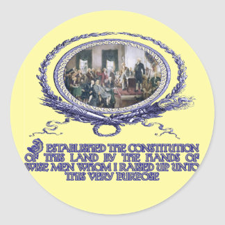Wise Men Raised up by God for this Purpose Classic Round Sticker