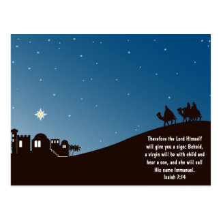 Wise Men Seek Him Christmas Postcard