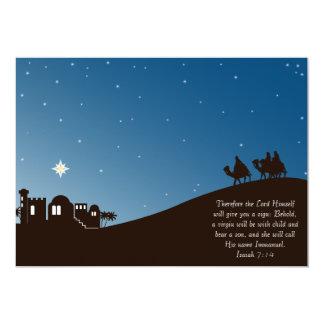 Wise Men Seek Him Flat Christmas Card