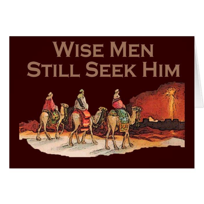 Wise Men Still Seek Him, Christian Christmas Card | Zazzle