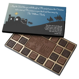 Wise Men Still Seek Him Christian Christmas 45 Piece Box Of Chocolates
