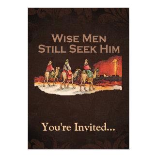 Wise Men Still Seek Him, Christmas 5x7 Paper Invitation Card
