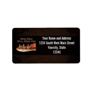 Wise Men Still Seek Him, Christmas Address Label
