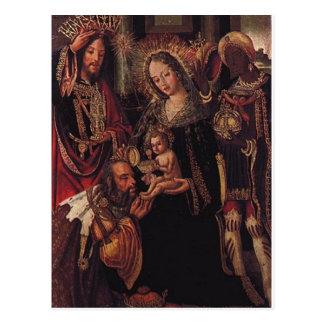 Wise Men visiting Baby Jesus Postcard