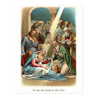 Wise Men Worship Post Card