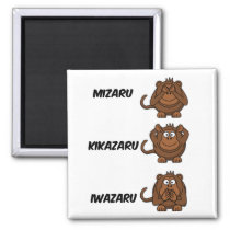 Wise Monkey Names Magnet