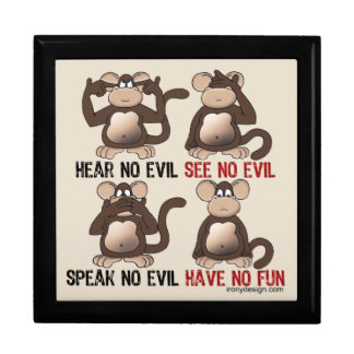 Wise Monkeys Humour Gift Boxes