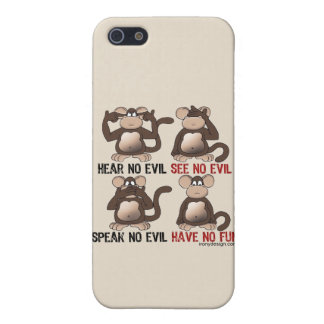 Wise Monkeys Humour iPhone SE/5/5s Case